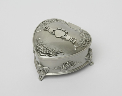 Small Pewter Heart Claddagh Jewelry Box