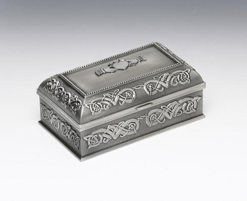 Medium Pewter Claddagh Jewelry Box