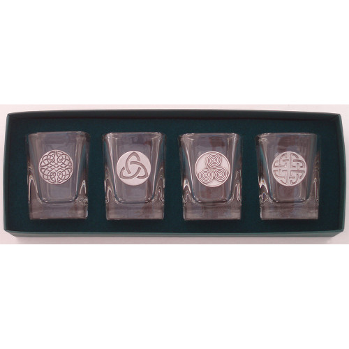 Celtic Design Pewter Shot Glasses (Set of 4)