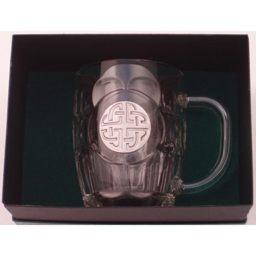 Celtic Knot Pewter Hobnail Mug