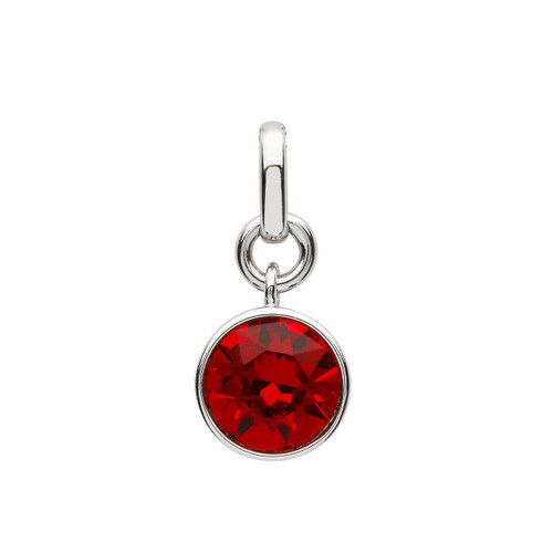 Sterling Silver Birthstone Pendant Adorned with Swarovski® Crystal - January