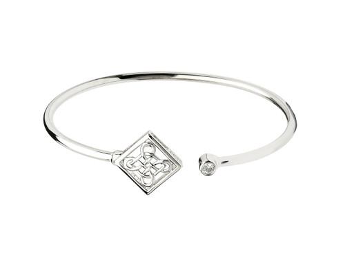 Sterling Silver Celtic Knot Bangle