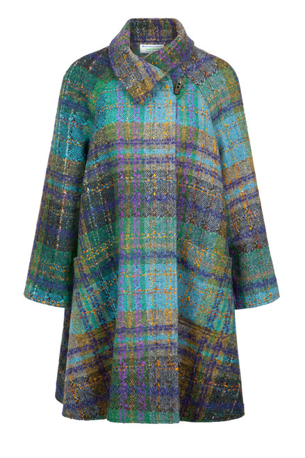 Women's Multicolor Tweed Swing Coat