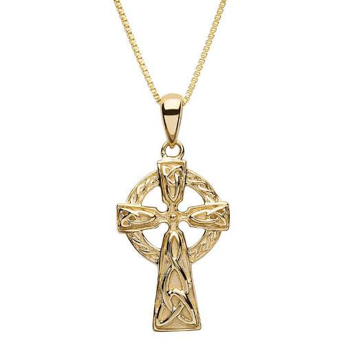 10K Yellow Gold Celtic Cross Pendant