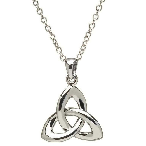 Sterling Silver 3D Trinity Knot Pendant