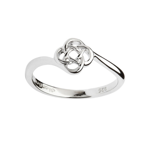 Women's Sterling Silver Dainty Round Celtic Knot Ring