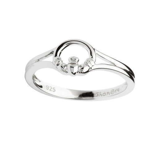 Women's Sterling Silver Dainty Claddagh Ring
