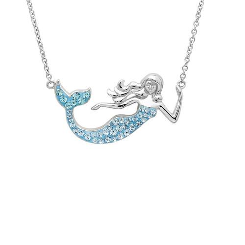 Blue Mermaid Necklace with Aqua Swarovski® Crystals