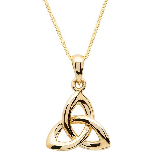 Gold Vermeil Trinity Knot Necklace