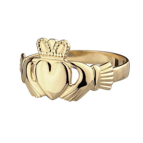 Women's 10 Karat Yellow Gold Claddagh Ring