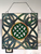 Multi-Colored Celtic Knot Stained Glass Window