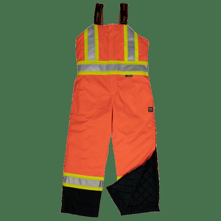 Tough Duck hi Vis Lined Safety Overall, Flor Orange - ToughWorkz
