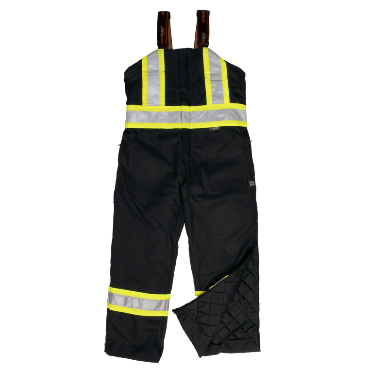 Work King Fluorescent Black Lined Safety Overall - ToughWorkz
