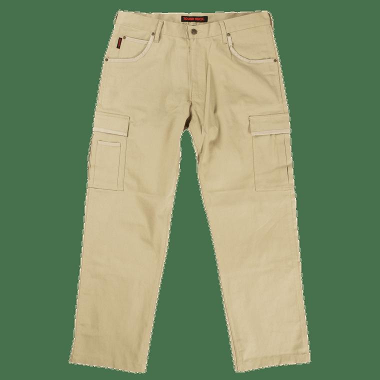 Flex Twill Khaki Contractors Cargo Pant - ToughWorkz