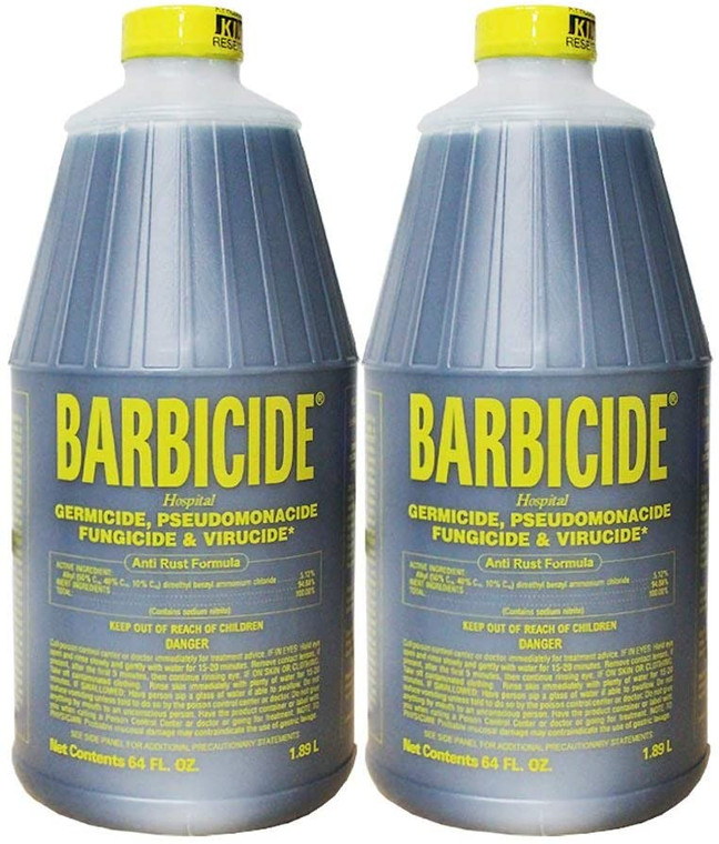 Barbicide Disinfectant 1/2 Gallon Hospital Grade - (Pack of 2) ToughWorkz