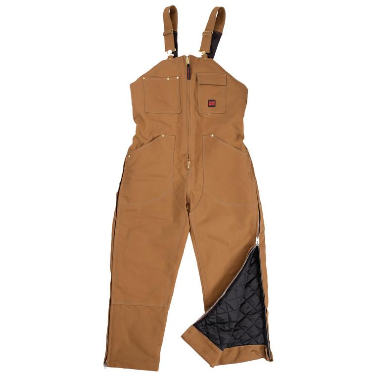 Tough Duck Men's Insulated Bib Overall Brown - ToughWorkz