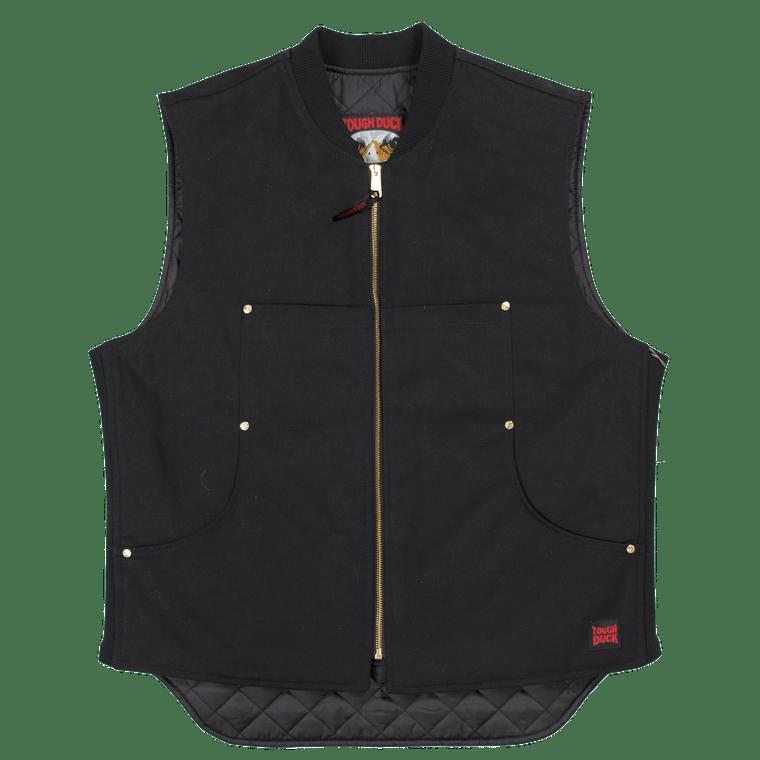 Shop Online for Black Quilt Lined Moto Vests for Men - ToughWorkz