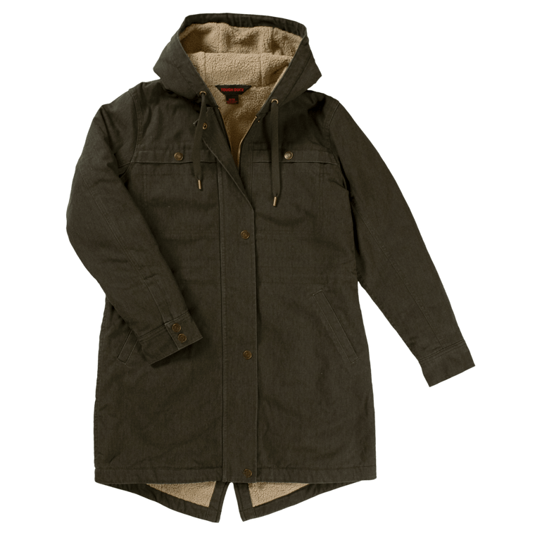 Tough Duck Women's Olive Sherpa Jacket, 5 Sizes - ToughWorkz