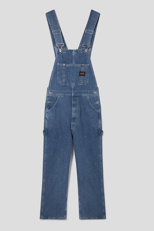 Stan Ray Vintage Stone Denim Overalls Front View - ToughWorkz