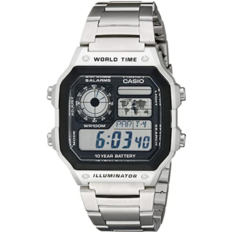 Casio Digital Watch, Silver - Available from ToughWorkz