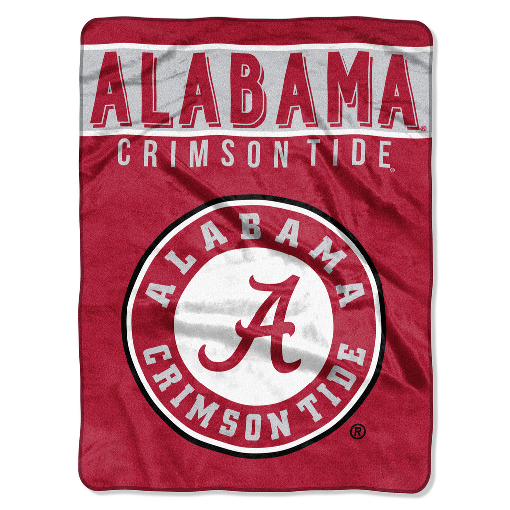 Alabama Crimson Tide Blanket 60x80 Raschel Basic Design
