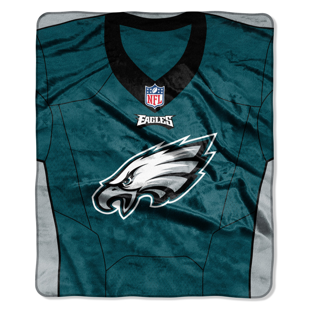 Philadelphia Eagles Blanket 50x60 Raschel Jersey Design