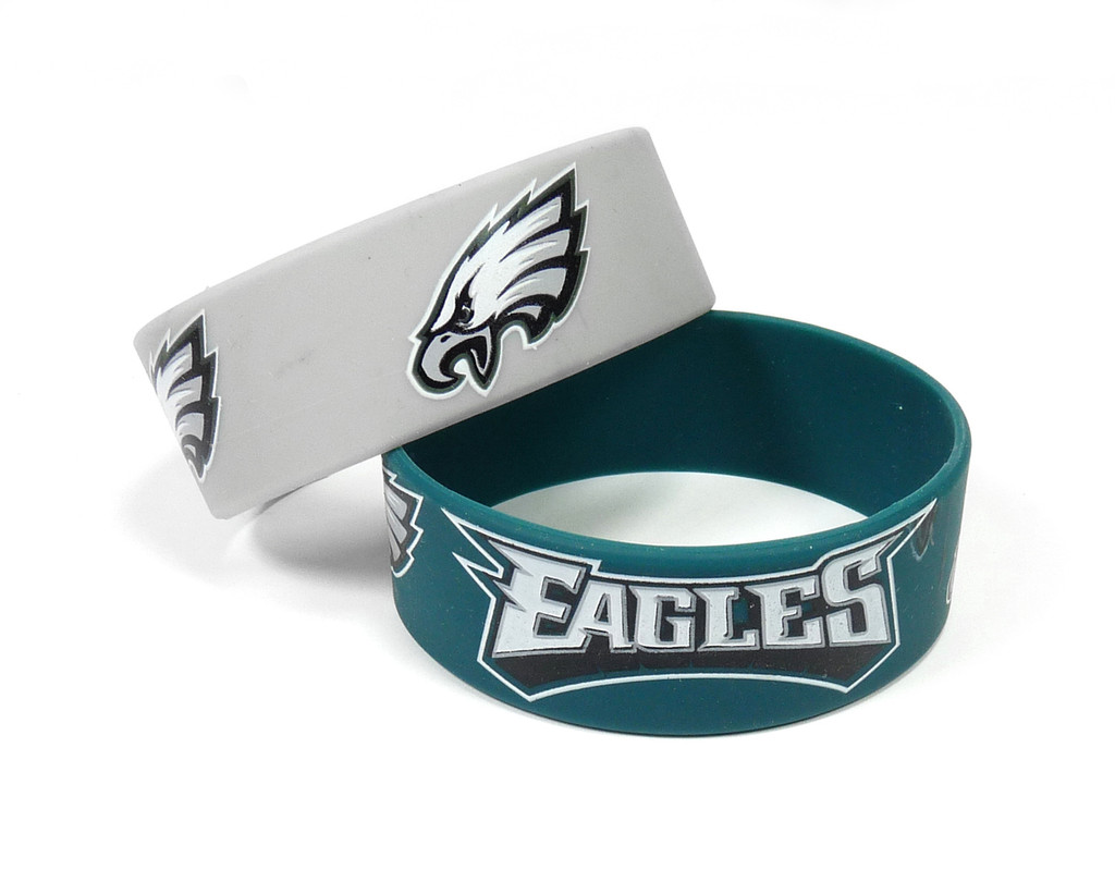 Philadelphia Eagles Bracelets 2 Pack Wide