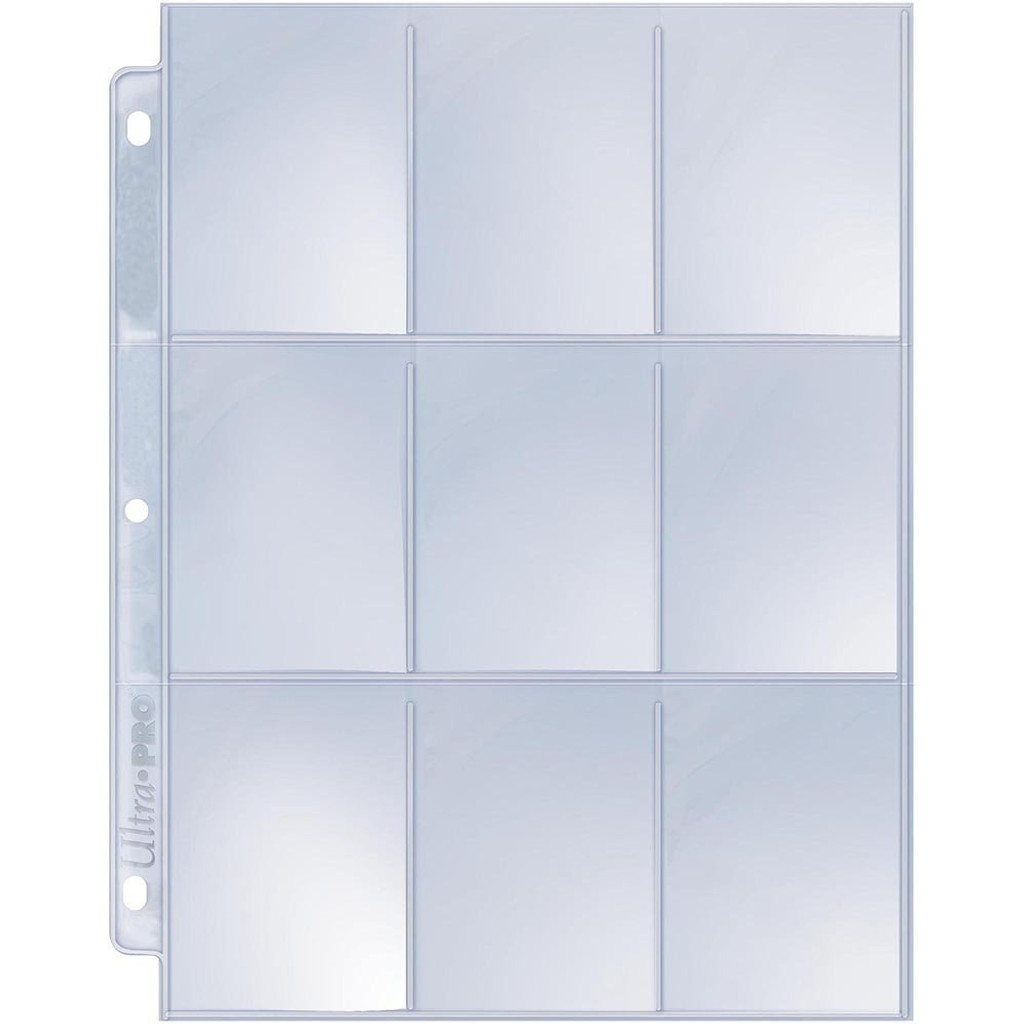 9 Pocket Silver Series Page (25 pack)