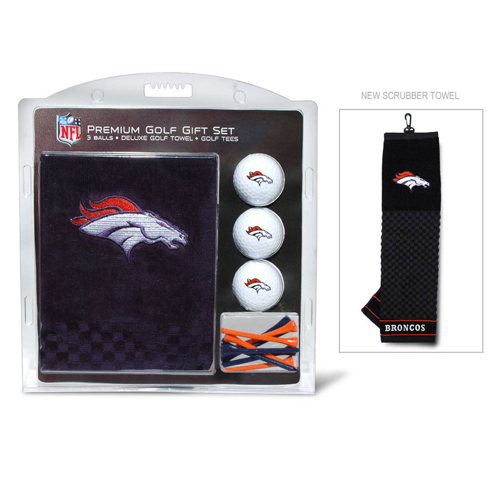 Denver Broncos Golf Gift Set with Embroidered Towel