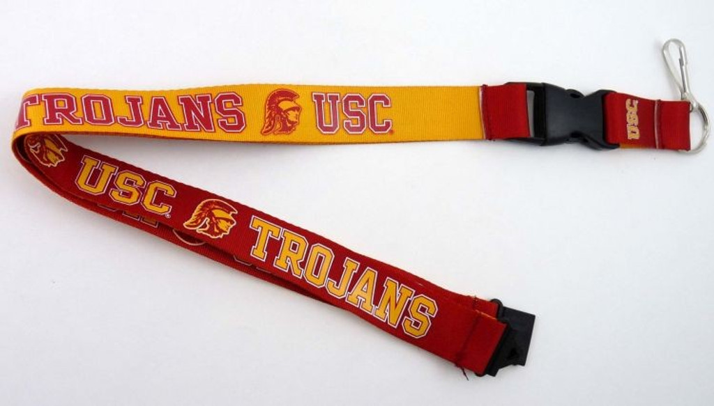 USC Trojans Lanyard Reversible Red and Gold