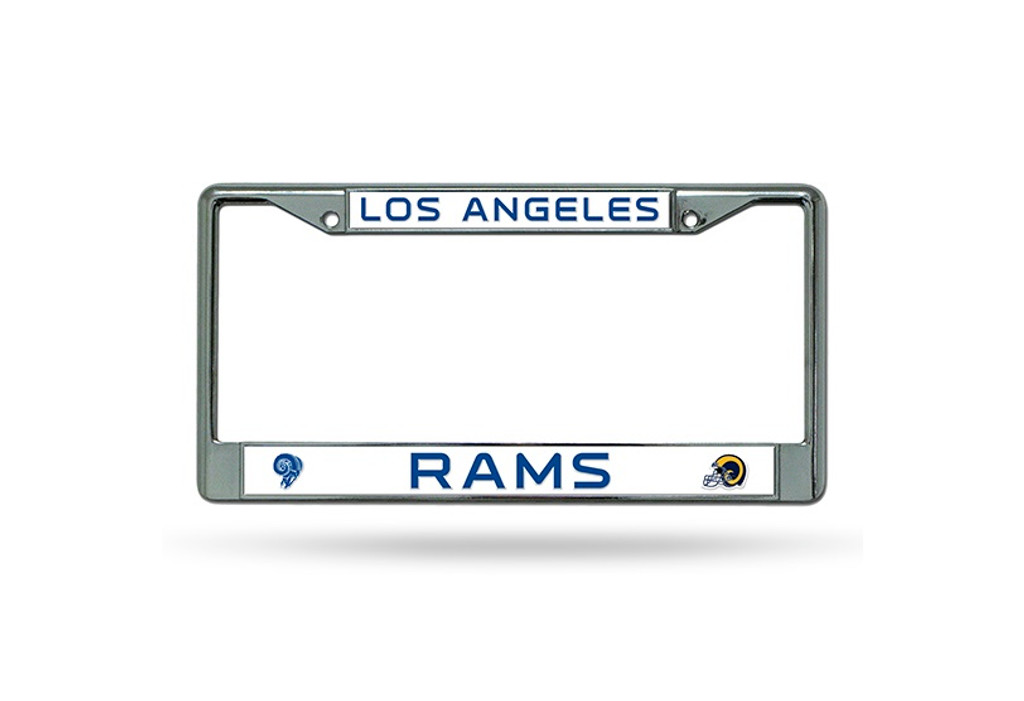 Los Angeles Rams License Plate Frame Chrome Retro Design