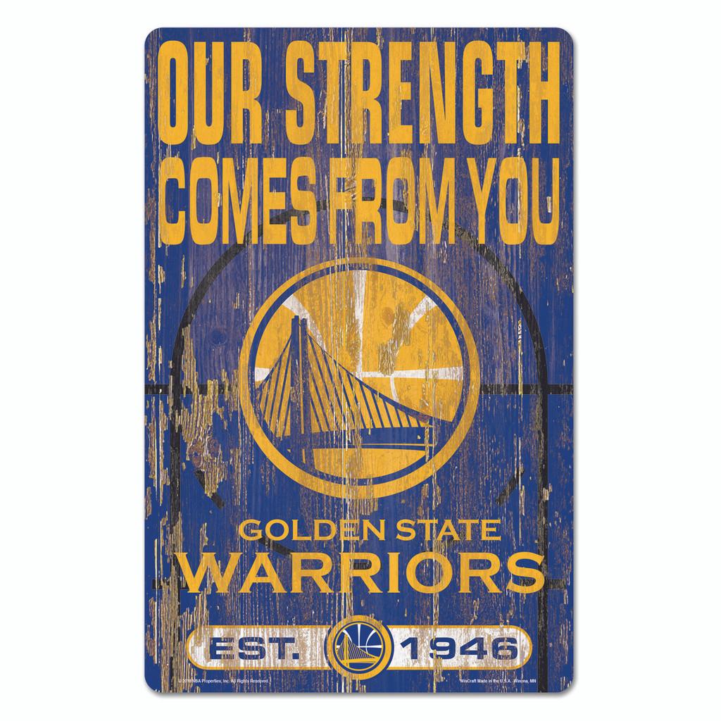 Golden State Warriors Sign 11x17 Wood Slogan Design