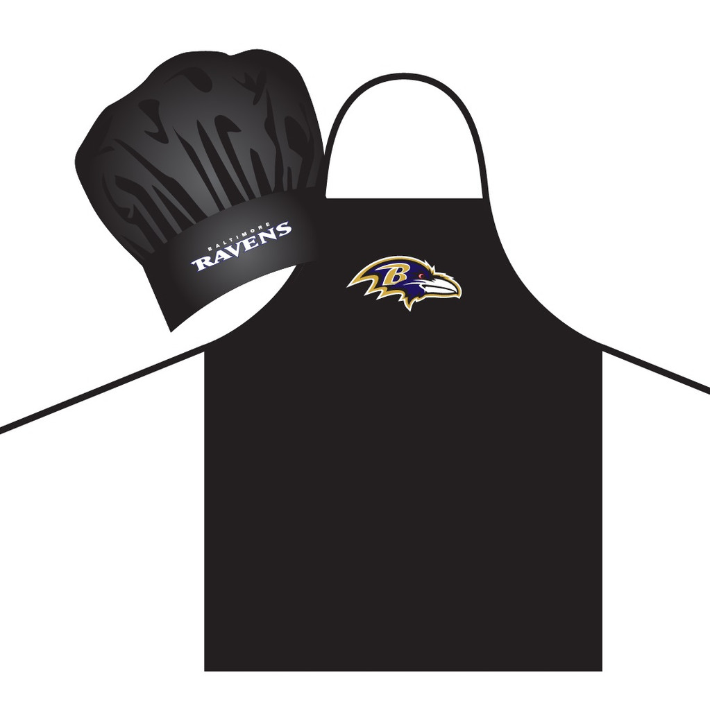 f713dc931e9 Baltimore Ravens Apron and Chef Hat Set - Caseys Distributing