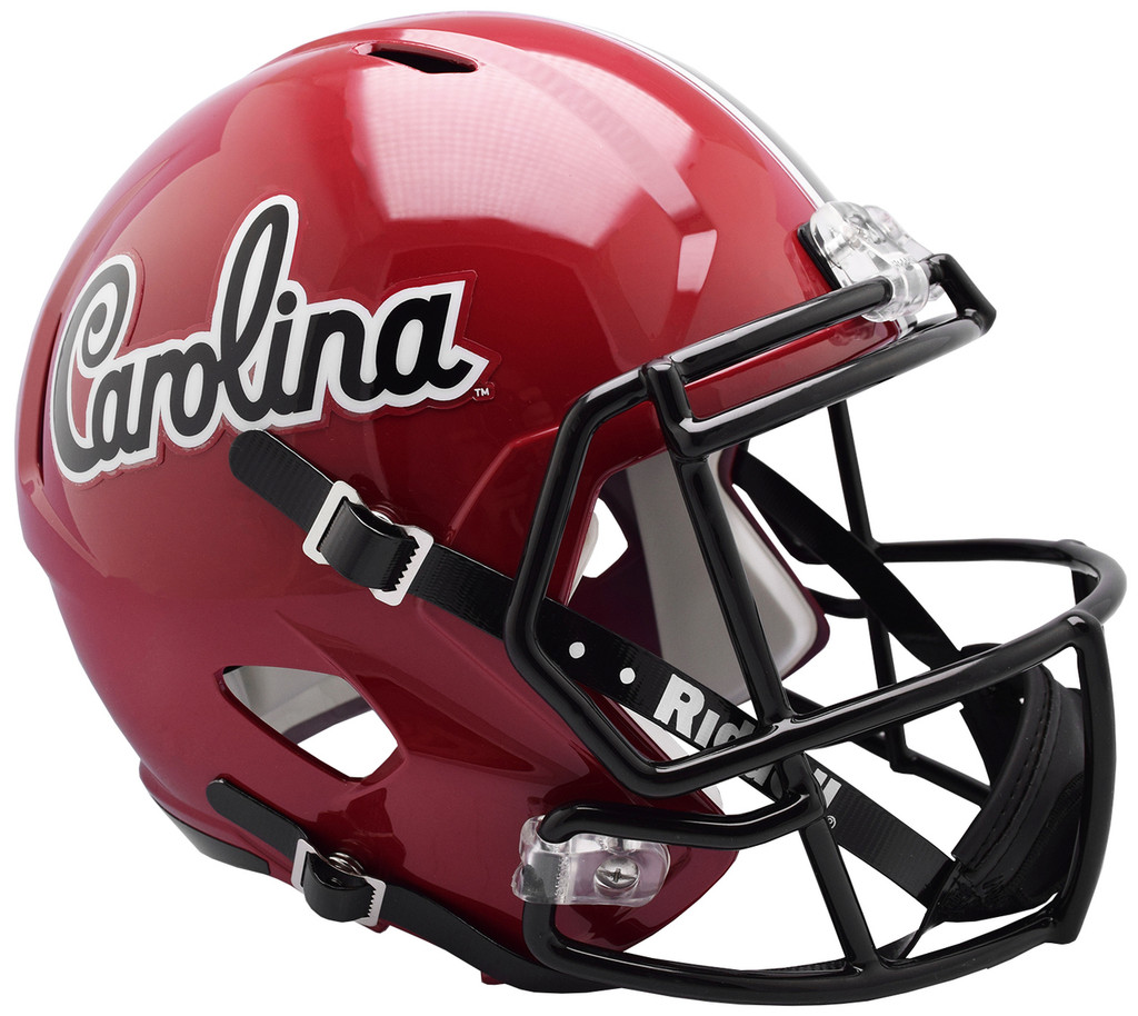 South Carolina Gamecocks Helmet Riddell Replica Full Size Speed Style Script Design
