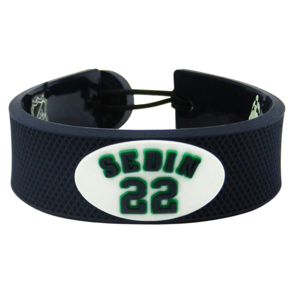 Vancouver Canucks Bracelet Team Color Jersey Daniel Sedin Design
