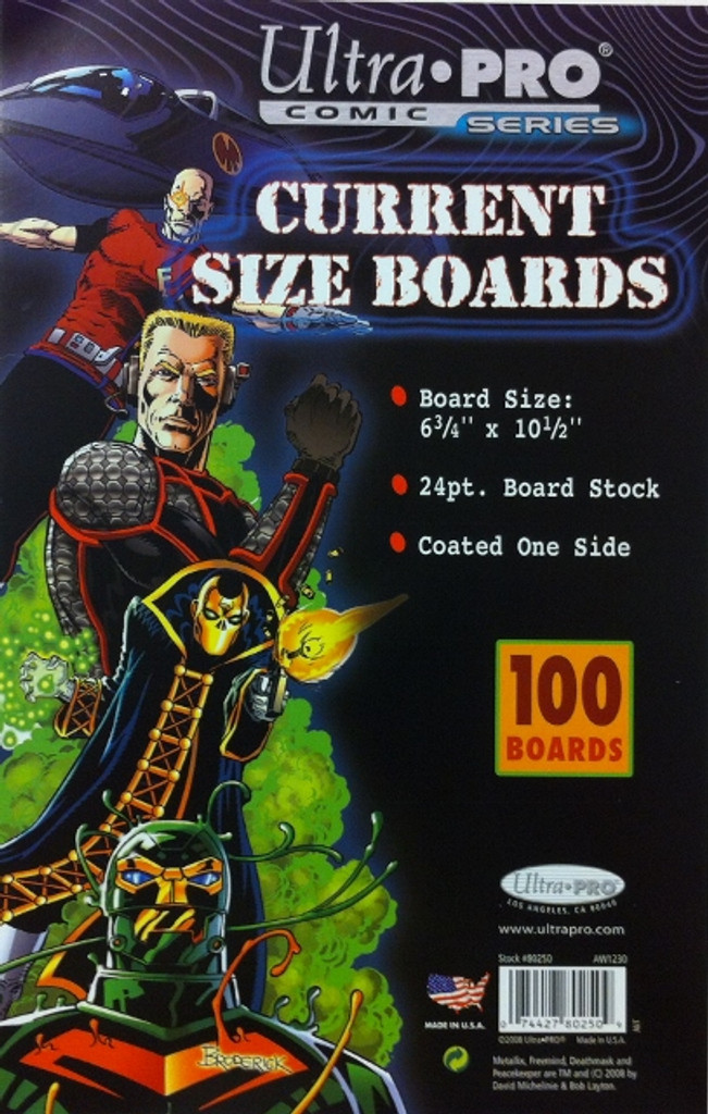 "Boards - Current 6 3/4"" x 10 1/2"" (100 per pack)"