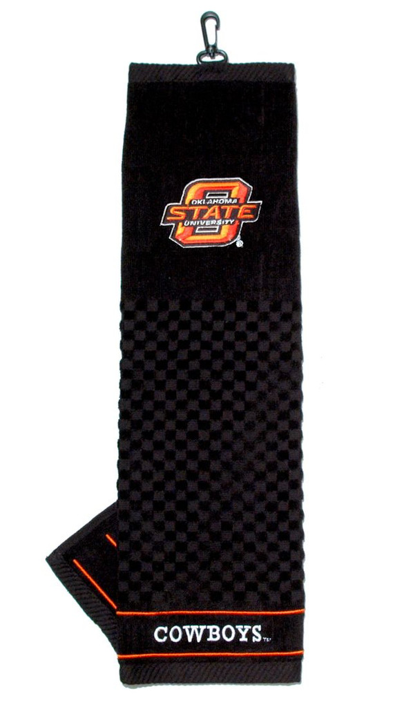 """Oklahoma State Cowboys 16""""x22"""" Embroidered Golf Towel"""