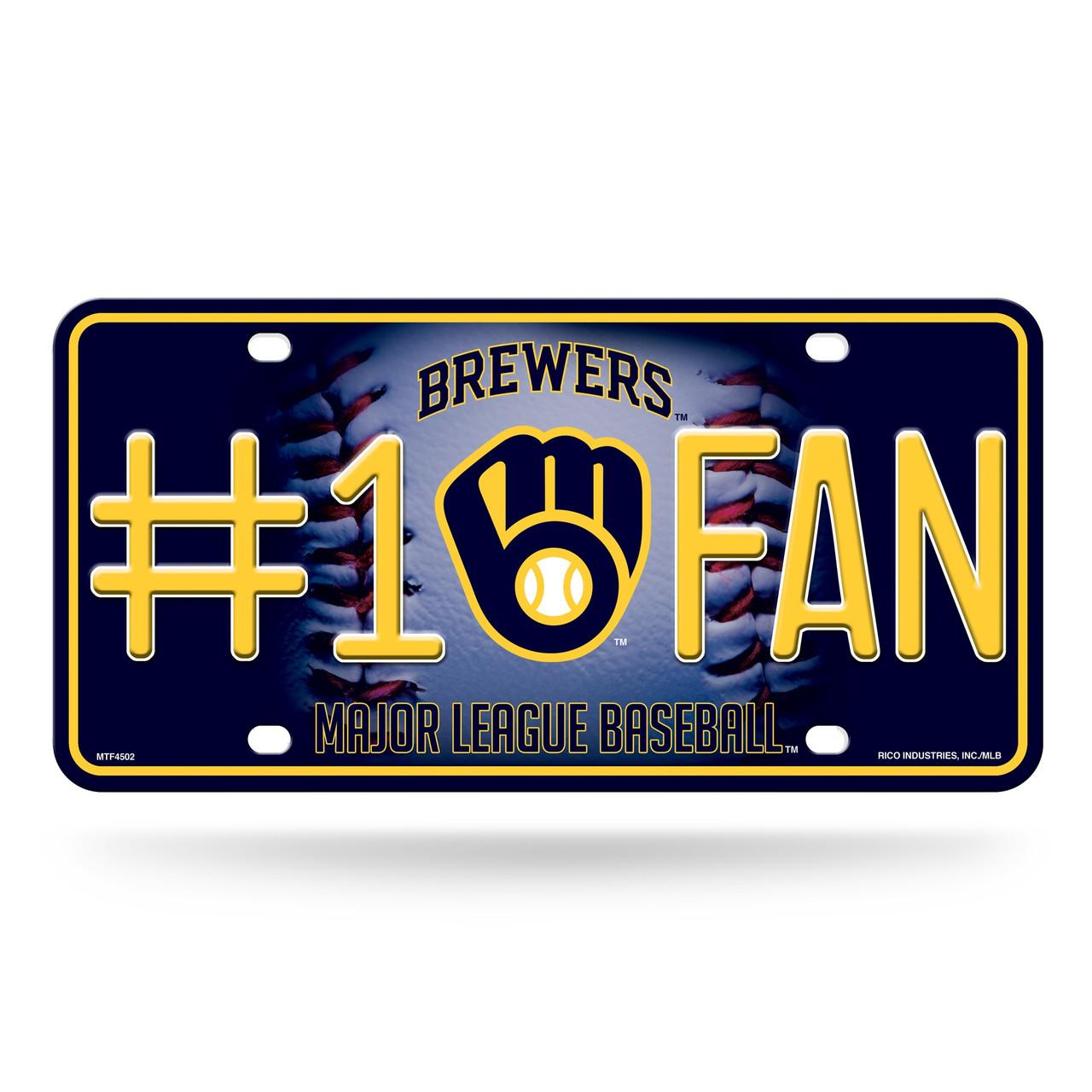 Milwaukee Brewers License Plate #1 Fan Alternate Design
