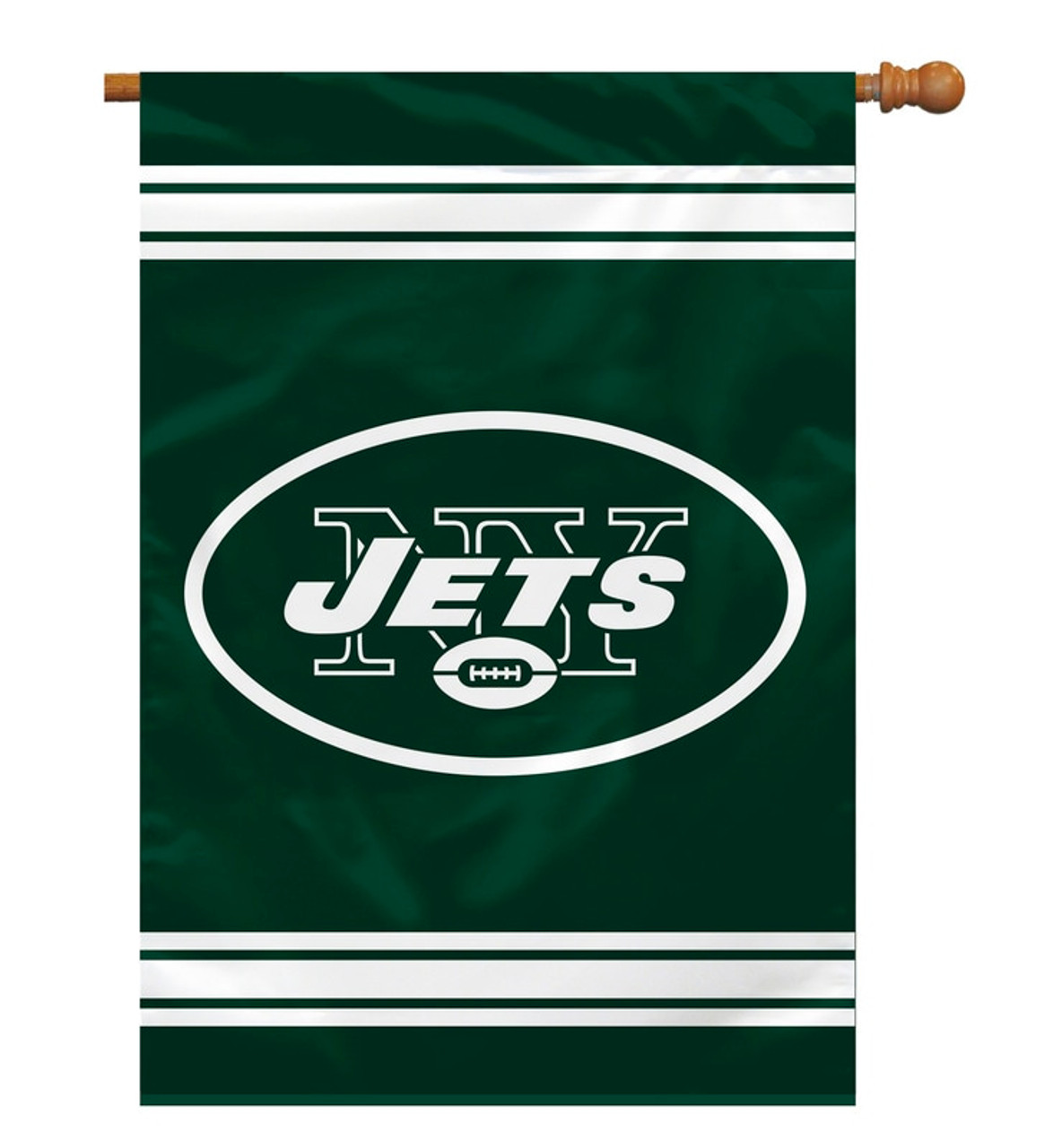 New York Jets Banner 28x40 House Flag Style 2 Sided Special Order