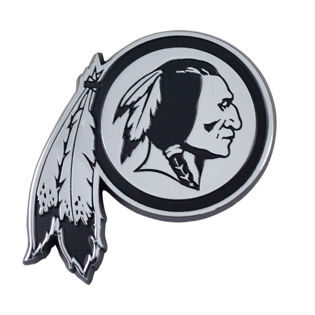 Washington Redskins Auto Emblem Premium Metal Chrome