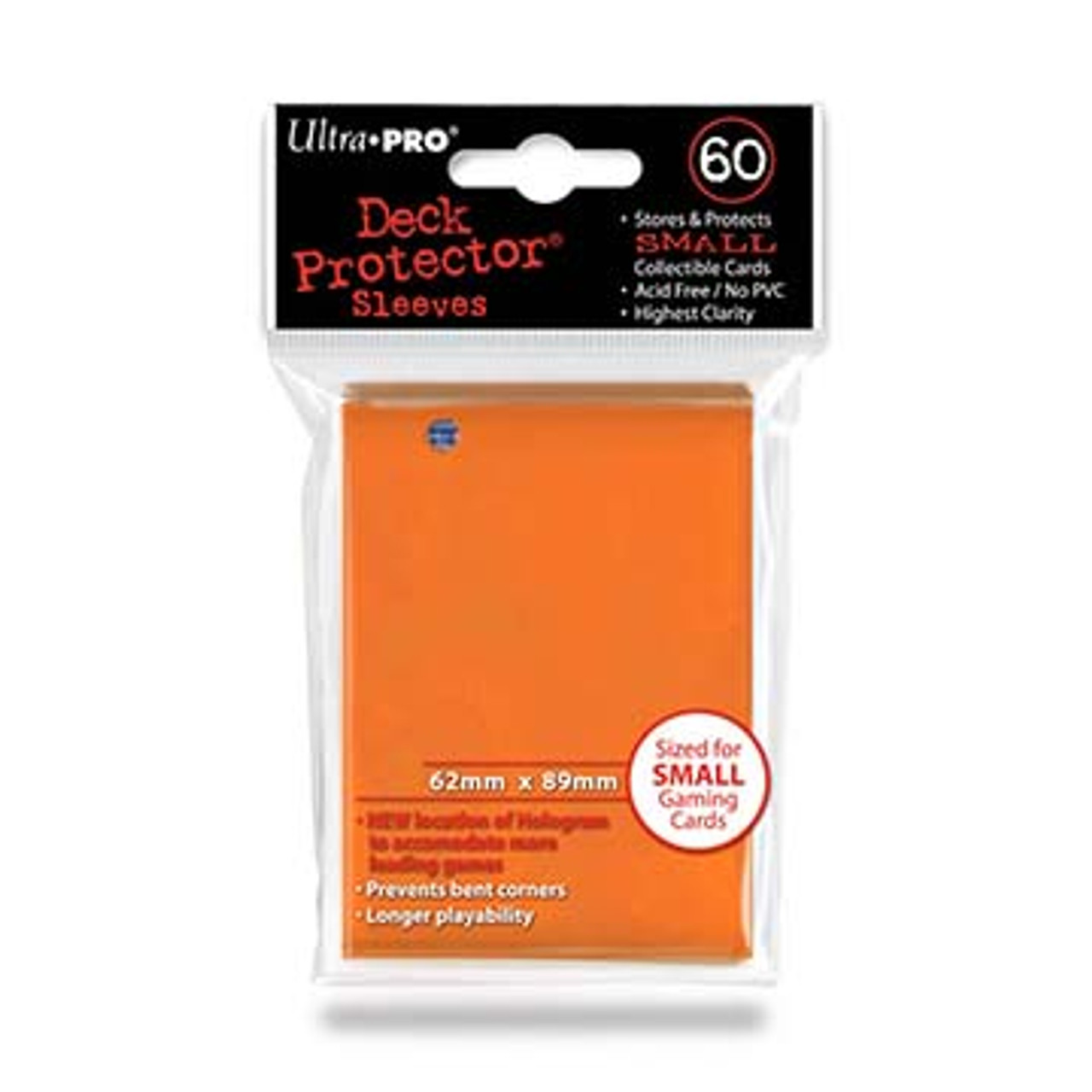 Deck Protectors - Small Size - Orange (One Pack of 60)