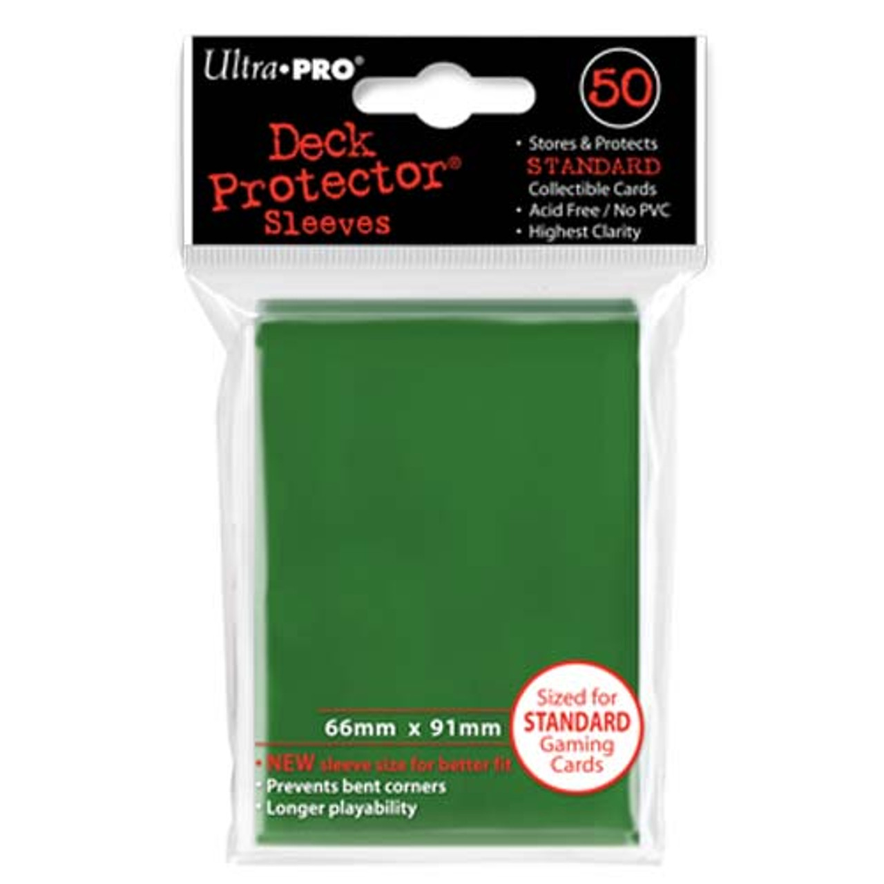 Deck Protectors - Solid - Green (One Pack of 50)