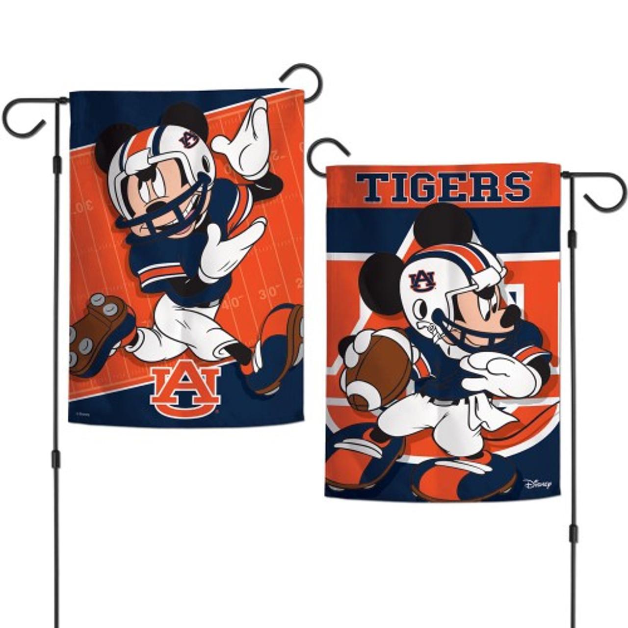 Auburn Tigers Flag 12x18 Garden Style 2 Sided Disney Special Order