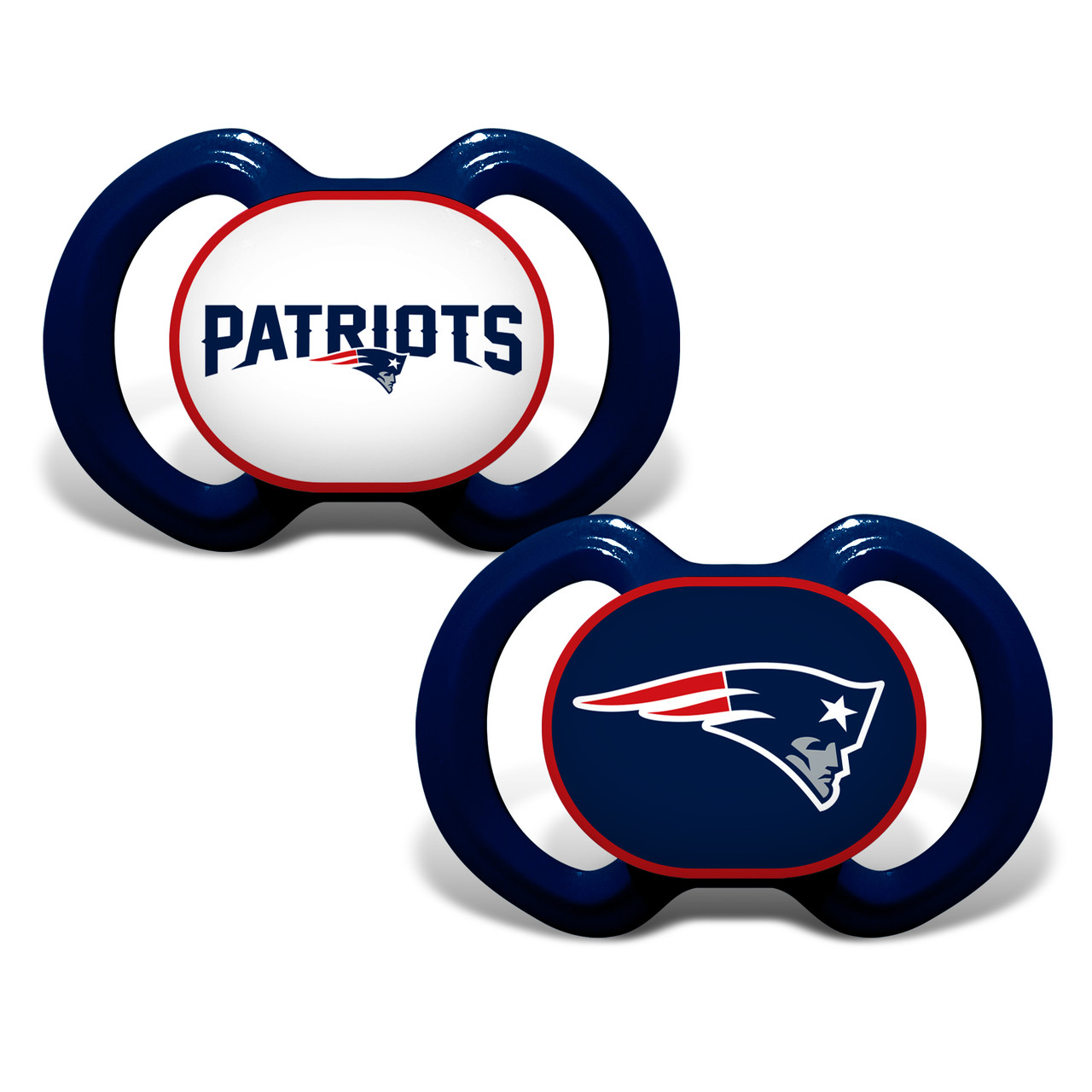 New England Patriots Pacifier 2 Pack Alternate