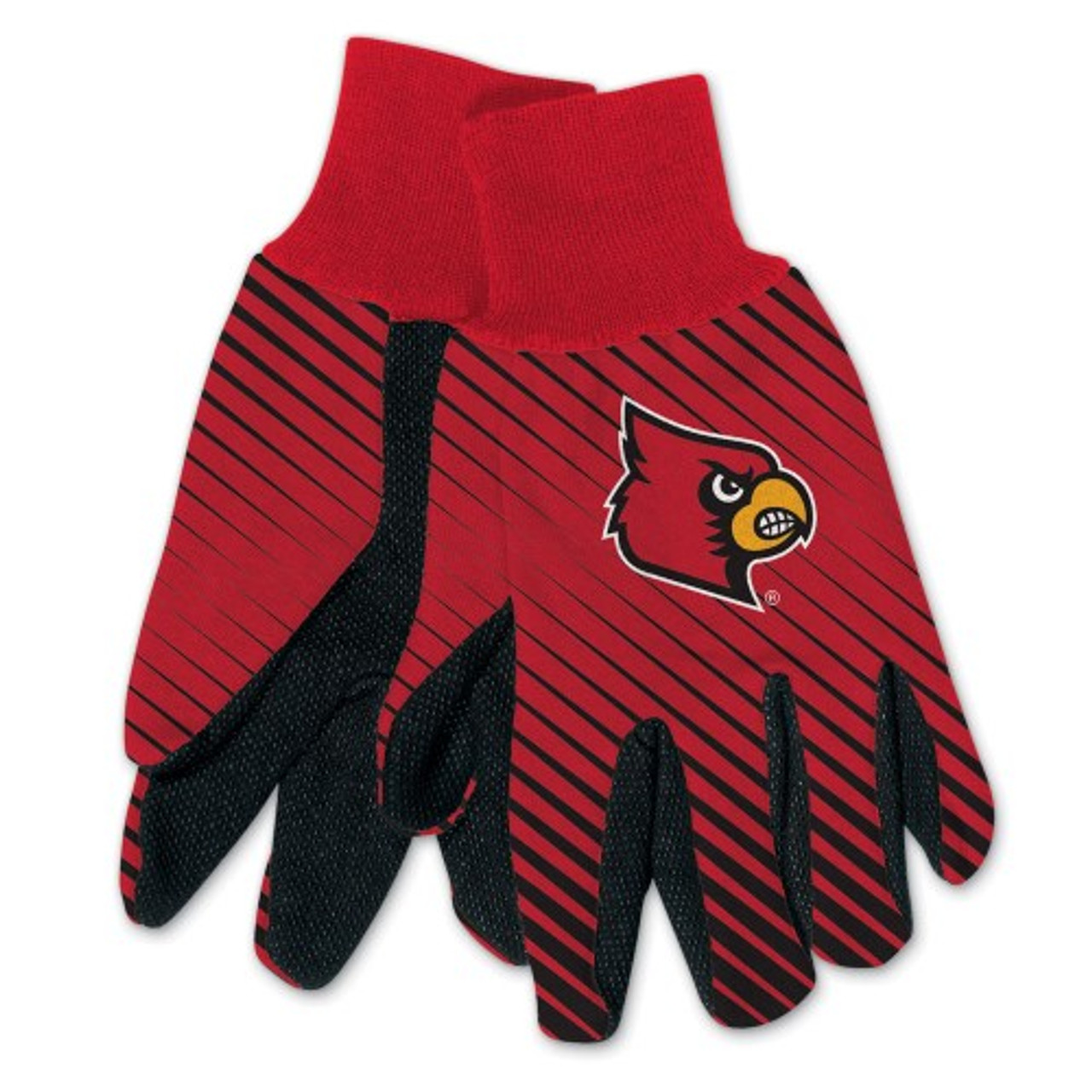 Louisville Cardinals Gloves Two Tone Style Adult Size Special Order