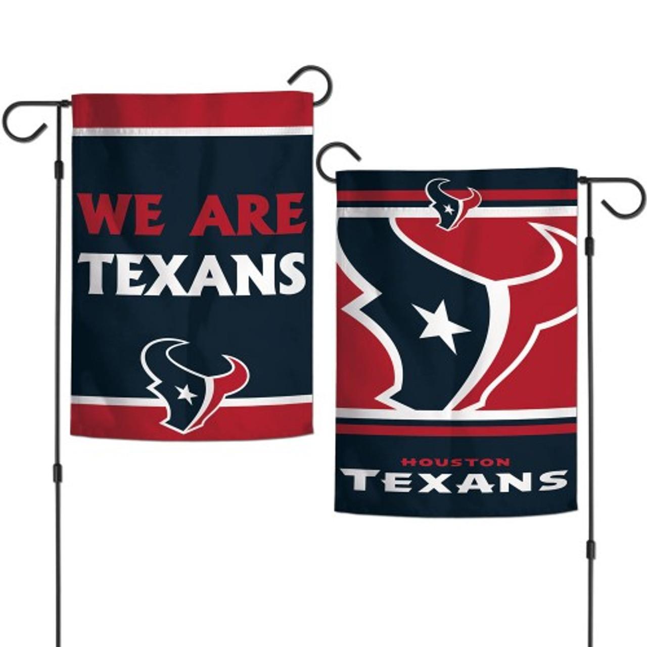 Houston Texans Flag 12x18 Garden Style 2 Sided Slogan Design - Special Order