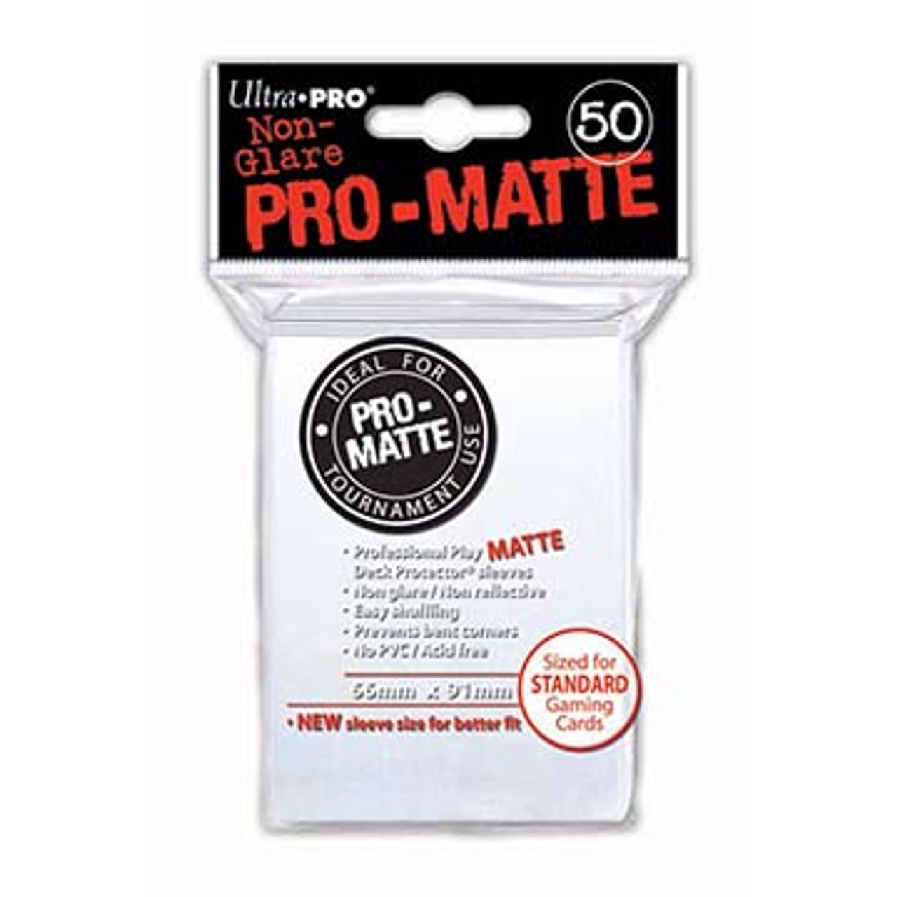 Deck Protectors - Pro-Matte - White (One Pack of 50)
