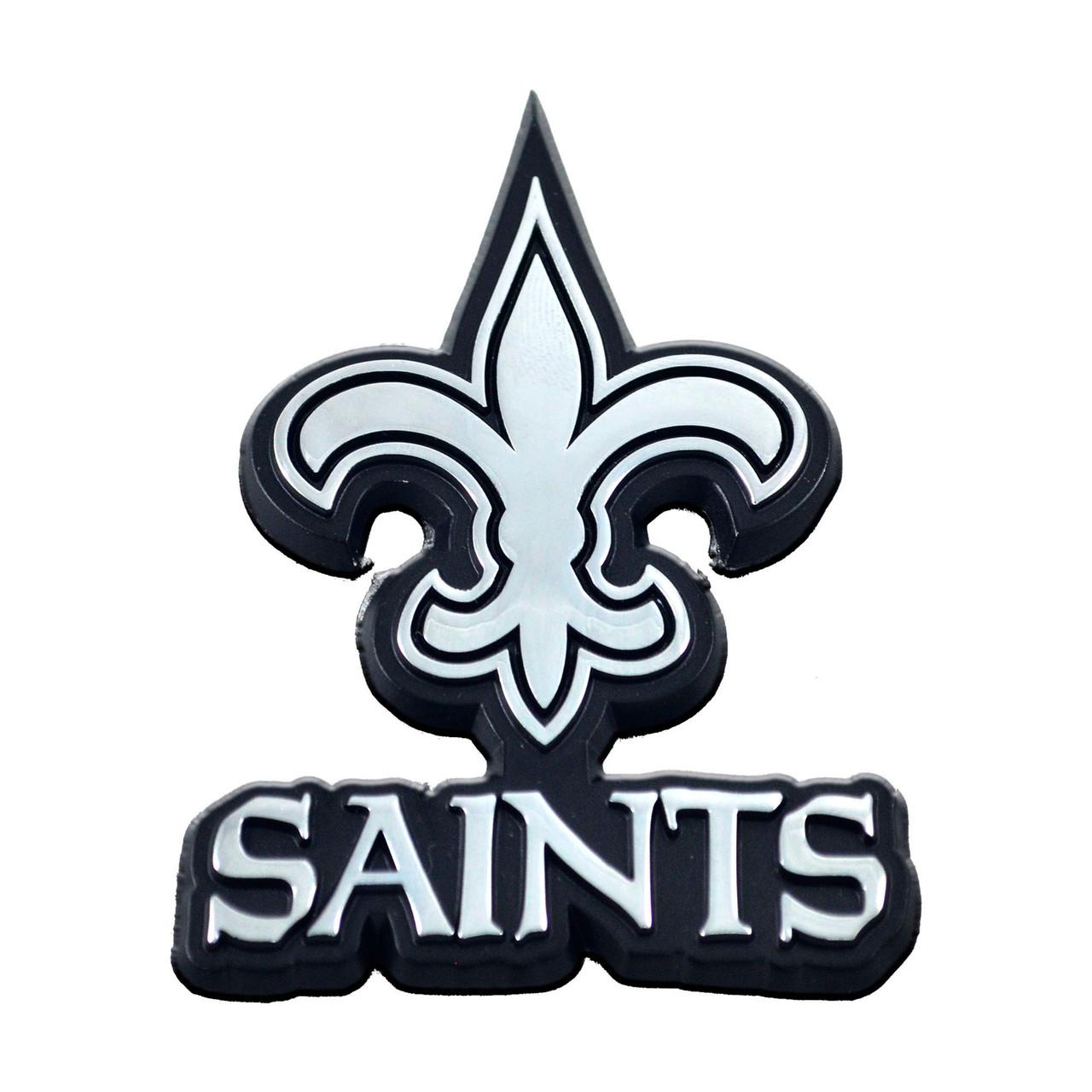 New Orleans Saints Auto Emblem Premium Metal Chrome