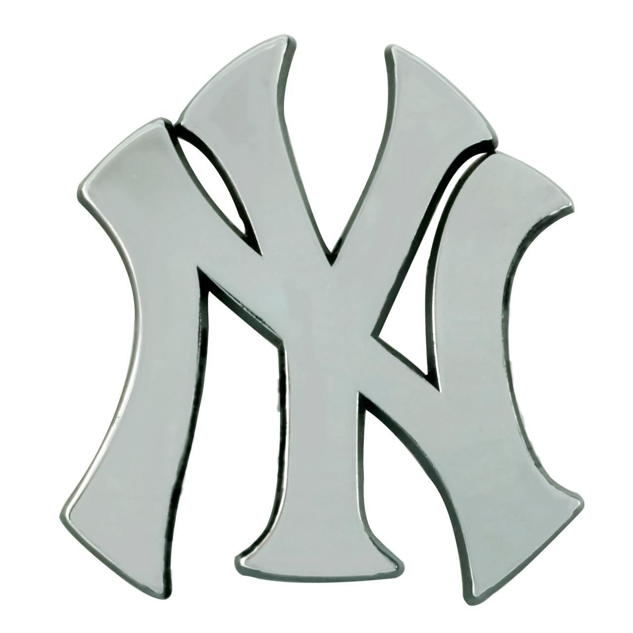 New York Yankees Auto Emblem Premium Metal Chrome