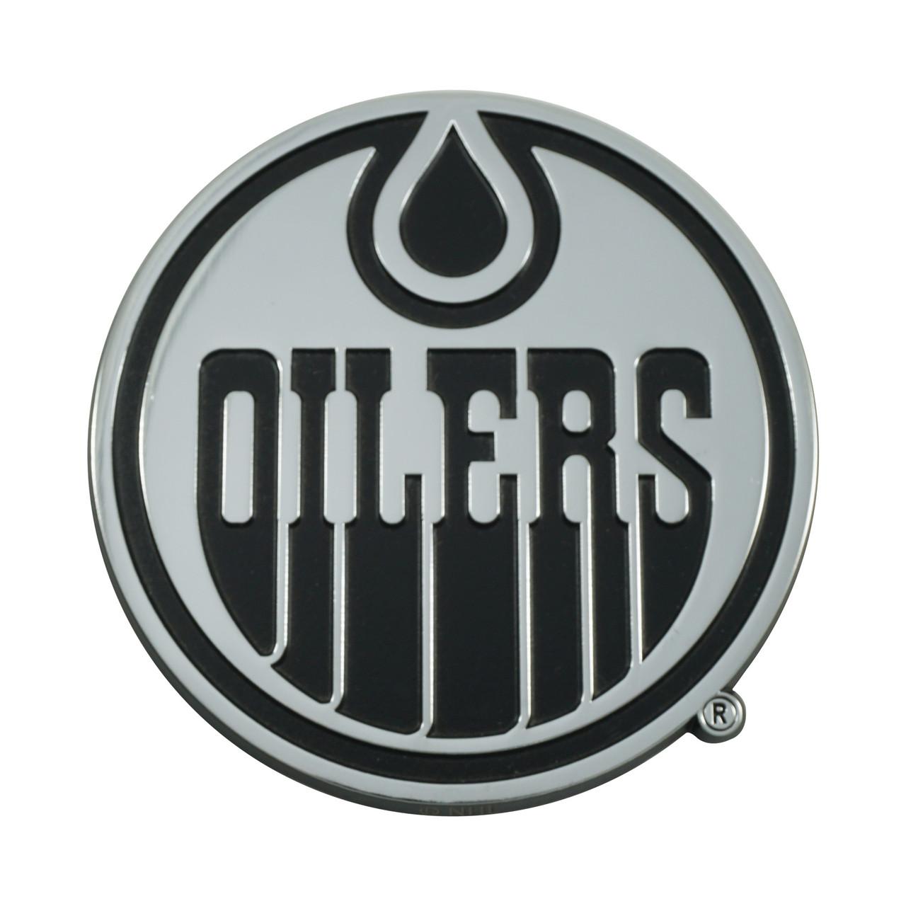 Edmonton Oilers Auto Emblem Premium Metal Chrome Special Order
